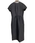 DRESSTERIOR(ドレステリア)の古着「シルクウールブラックドレス」 ブラック