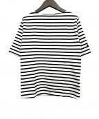 SAINT JAMES(セントジェームス)の古着「ボーダーカットソー」 ホワイト×ブラック