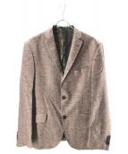 ETRO(エトロ)の古着「シルク2Bジャケット」|ブラウン