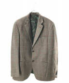 ETRO(エトロ)の古着「ウール2Bチェックジャケット」|ブラウン