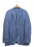CORNELIANI(コルネリアーニ)の古着「リネン混2Bジャケット」|スカイブルー