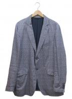 ETRO(エトロ)の古着「総柄2Bジャケット」|ネイビー