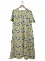 Sally Scott(サリースコット)の古着「レモン柄ブラウスワンピース」|ブルー