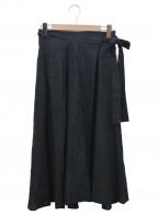 BEARDSLEY(ビアズリー)の古着「刺繍巻きスカート」 ブラック