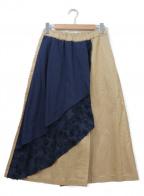 FRAPBOIS(フラボア)の古着「フィーバーパンツ」 ベージュ