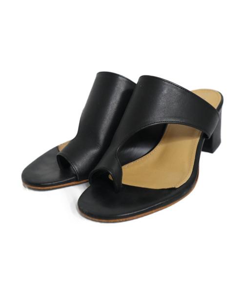 CHEMBUR(チェンバー)CHEMBUR (チェンバー) トングサンダル ブラック サイズ:36の古着・服飾アイテム