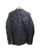 Wrangler(ラングラー)の古着「ユーズド加工コーデュロイシャツ」|グレー
