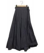 ATON(エイトン)の古着「ベルトラップスカート」|ネイビー