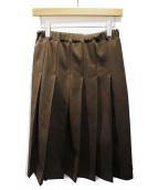 COMME des GARCONS(コムデギャルソン)の古着「ジャージープリーツスカート」|ブラウン