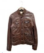 MANDO(マンドー)の古着「レザージャケット」|ブラウン