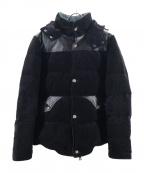 AKM(エーケーエム)の古着「ストレッチコーデュロイダウンジャケット」|ブラック