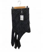 SELF PORTRAIT(セルフ ポートレイト)の古着「ピンストライプパネルスカート」|ネイビー