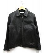 BEAUTY&YOUTH(ビューティーアンドユース)の古着「シングルライダースジャケット」|ブラック