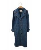 Kaon(カオン)の古着「フリンジデニムコート」|インディゴ