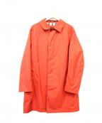 DAKS(ダックス)の古着「タイプライターステンカラーコート」 オレンジ