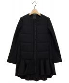 YOKO CHAN(ヨーコチャン)の古着「バックティアードウォームコート」|ブラック