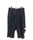 LOEWE(ロエベ)の古着「クロップドワイドパンツ」|ブラック