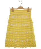 MIU MIU(ミュウミュウ)の古着「プリーツスカート」|イエロー