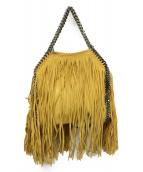 STELLA McCARTNEY(ステラマッカートニー)の古着「Falabella Mini Fringe Tote Bag」|イエロー