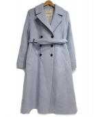 Apuweiser-riche(アプワイザーリッシェ)の古着「ベルテッドカラーコート」 ブルー