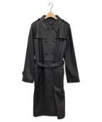 agnes b.(アニエスベー)の古着「レザーコート」 ブラック