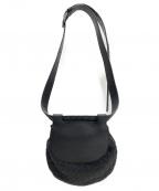 BOTTEGA VENETA(ボッテガベネタ)の古着「イントレチャートベルト付バッグ」|ブラック