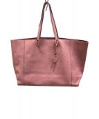 ()の古着「イントレッチオレザートートバッグ」|ピンク
