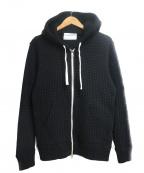 Seagreen(シーグリーン)の古着「オニワッフルジップパーカー」|ブラック