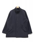 COMOLI(コモリ)の古着「フェルトンジップアップジャケット」|ネイビー