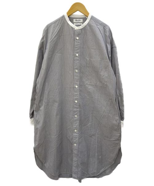 Gymphlex(ジムフレックス)Gymphlex (ジムフレックス) ピンストライプシャツワンピース サイズ:14表記の古着・服飾アイテム