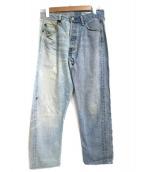 LEVIS(リーバイス)の古着「リメイクデニムパンツ」|スカイブルー