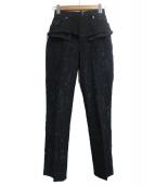 DIESEL(ディーゼル)の古着「リメイクパンツ」|ブラック