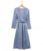 CELFORD(セルフォード)の古着「ウエストリボンワンピース」|ブルー
