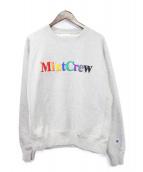 MintCrew(ミントクルー)の古着「MULTICOLOR LOGO SWEAT」|グレー