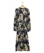 Ameri VINTAGE(アメリヴィンテージ)の古着「BLOSSOM PLEATS DRESS」|ネイビー
