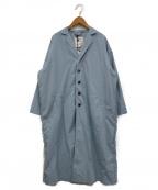 GRANDMA MAMA DAUGHTER(グランマママドーター)の古着「ワイドチェスターコート」|ブルー