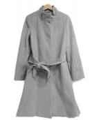 LAUTRE AMONT(ロートレアモン)の古着「ベーシックスタンドカラーコート」 グレー