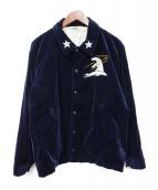 TENDERLOIN(テンダーロイン)の古着「スーベニアアラスカジャケット」|ネイビー