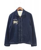 TENDERLOIN(テンダーロイン)の古着「スーベニアジャケット」|ネイビー