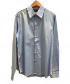 MARNI(マルニ)の古着「サイドラインポプリンシャツ」|ブルー×グリーン