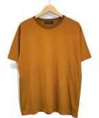 CABAN(キャバン)の古着「コットンクルーネックTシャツ」 ブラウン