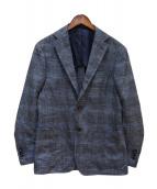RING JACKET(リングジャケット)の古着「3Bチェックジャケット」|ネイビー