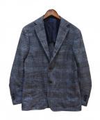 RING JACKET(リングジャケット)の古着「3Bチェックジャケット」 ネイビー
