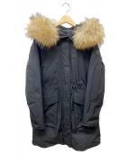 WOOLRICH(ウールリッチ)の古着「モッズロングコート」|ブラック