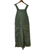 Americana(アメリカーナ)の古着「バックサテンサロペットパンツ」|グリーン