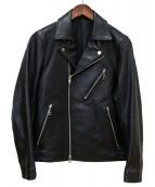 LIDnM(リドム)の古着「ダブルライダースジャケット」 ブラック