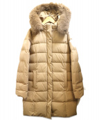 Demi-Luxe BEAMS(デミルクスビームス)の古着「FOXファーフーデッドダウンコート」 ベージュ