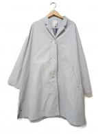 PRET POUR PARTIR(プレ・プール・パルティール)の古着「スタンドカラーコート」|スカイブルー