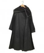TOKUKO1erVOL(トクコプルミエヴォル)の古着「レース切替フレアロングコート」 ブラック