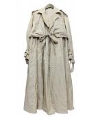 CINOH(チノ)の古着「ナイロントレンチコート」|ベージュ